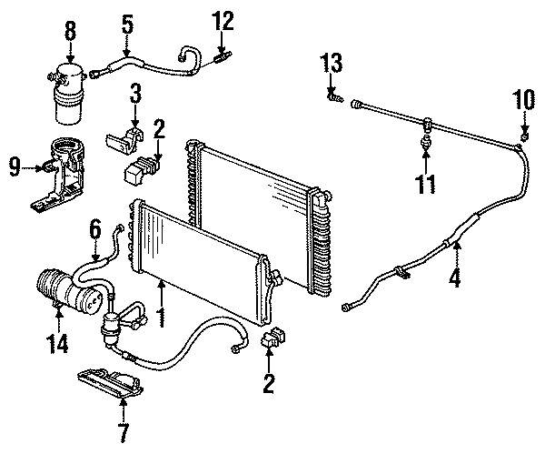 2002 Cadillac Deville A/c refrigerant discharge hose