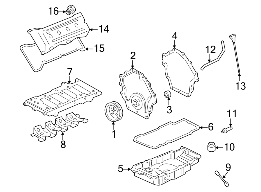 2006 Cadillac XLR Engine Crankshaft Seal (Front). 3.5