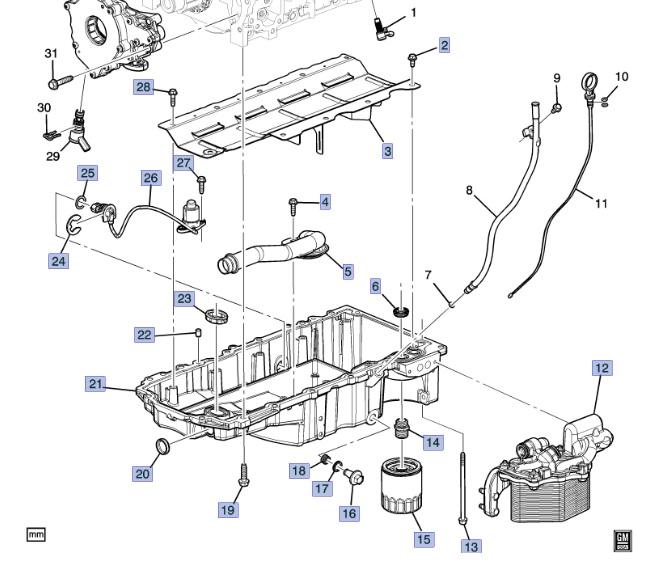 LT1 C7 Wet Sump Oil Pan: GM Performance Motor