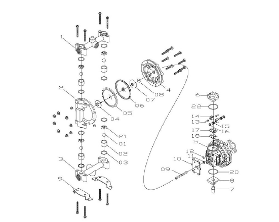 Sandpiper Diaphragm Pump Diagram Aro Pump Diagram
