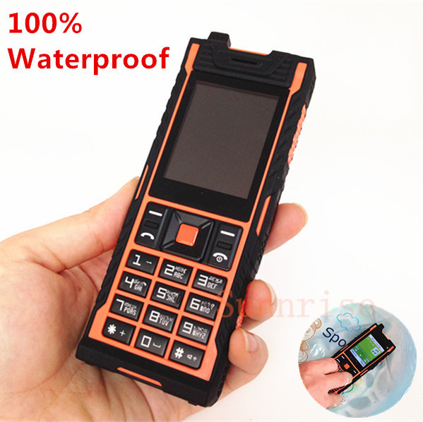 uk availability 15572 2631a 100% IP67 Waterproof Shockproof Dustproof Mobile Phone Original Outdoor  Army Cell Phone Long Standby Power Bank Dual SIM Phone