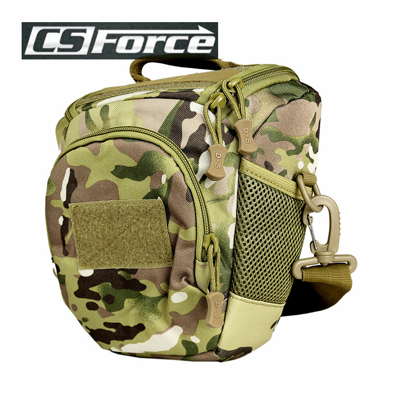 Men Tactical Camouflage Camera Bags 600D Nylon Sport Travel Military Camera  Triangle Single Shoulder ... 7f2ef87765d33