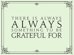 Being Grateful & Thankful