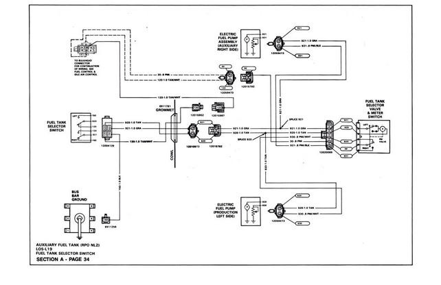 Wiring Diagram For Tank Selector 1986 Chevy Picckup : 51