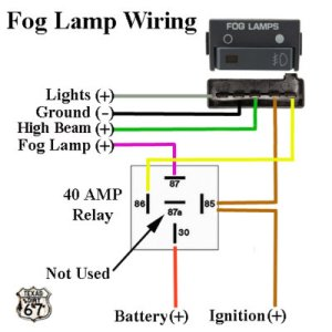 8898 Fog Light Heavy Duty Relay Harness for use with OEM