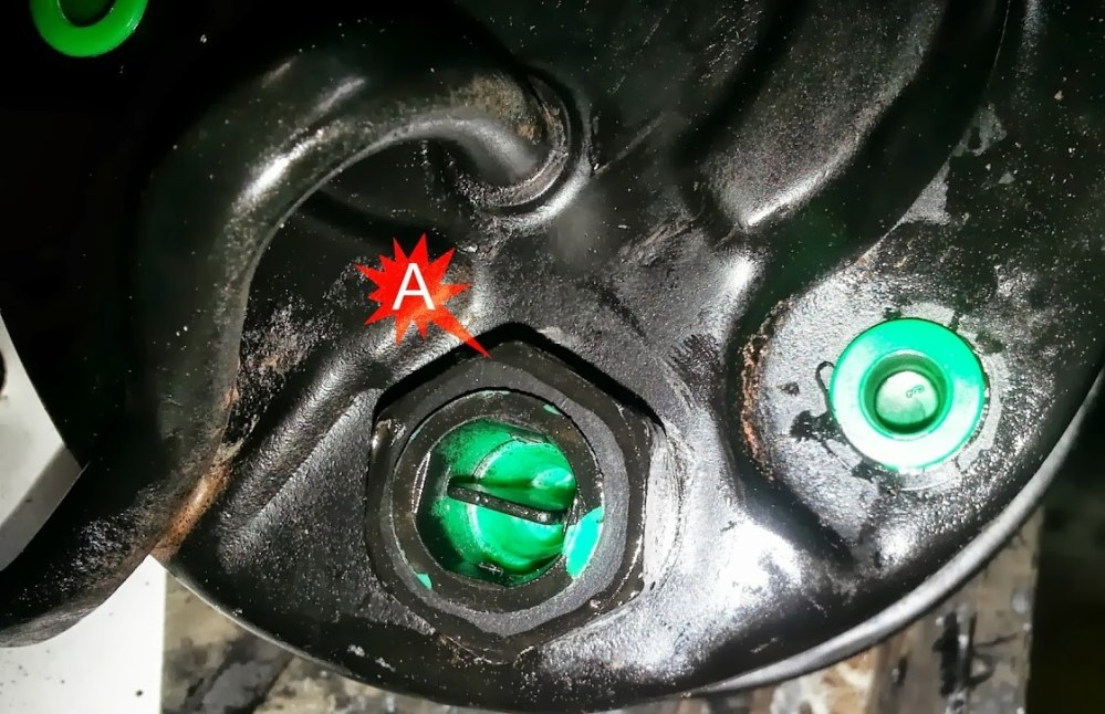medium resolution of  the power steering pump this can be done with a 1 socket and an impact hammer item a in the following photo is the portion of the pump that can be