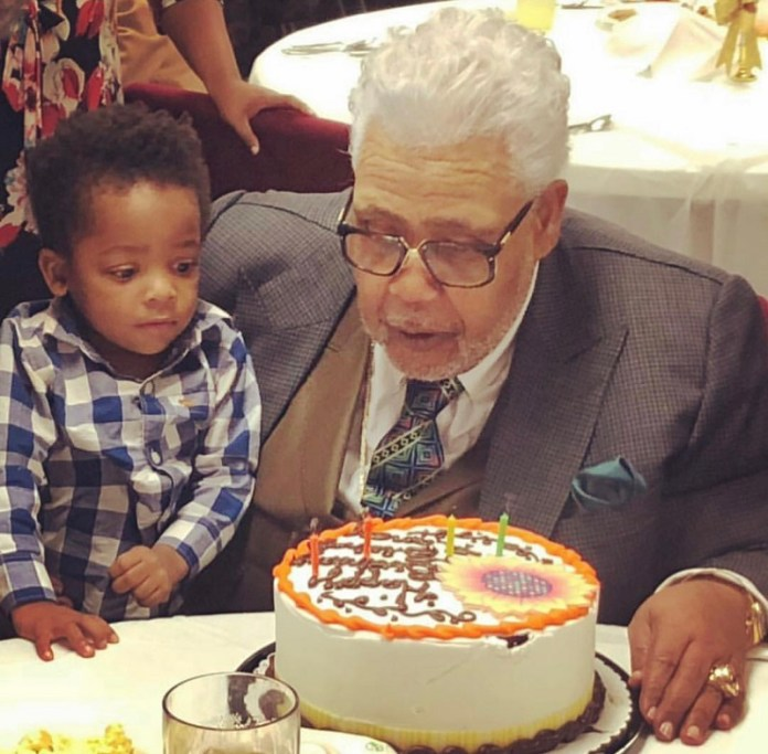 Rance Allen and friend at Birthday Party