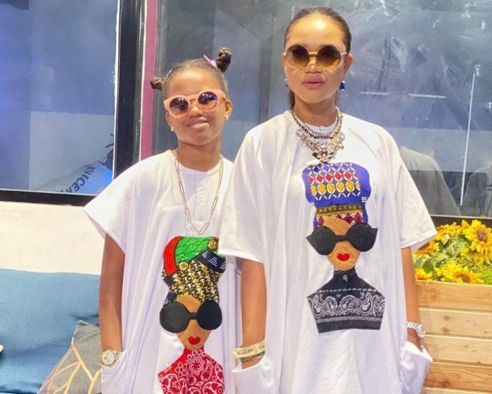 Ada Ehi and Daughter