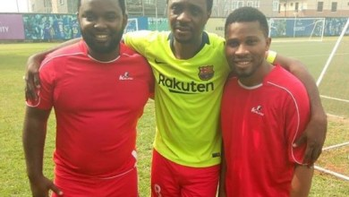 Renowned worship leader Nathaniel Bassey shared a beautiful clip of him scoring a strikers goal in a recent friendly match with his church team.