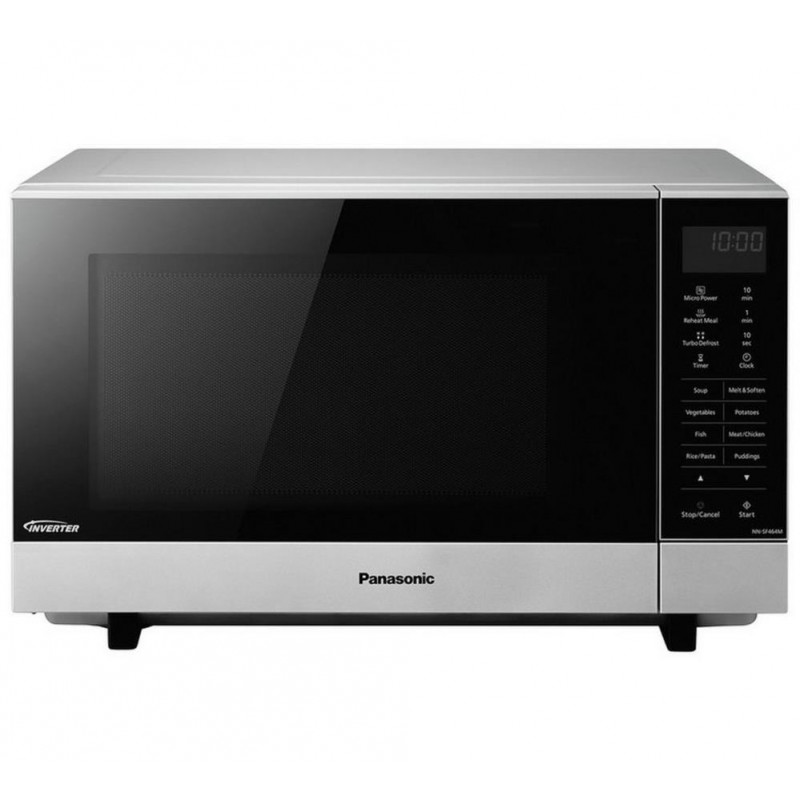 Panasonic NN-SF464M Standard Flatbed Microwave - Silver - Microwaves - Kitchen Appliances - Stock Clearance | GMV Trade