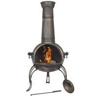 Clay Chiminea Outdoor Fireplace Lowes