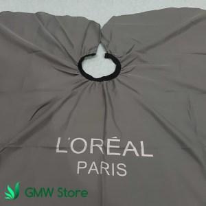 Kep Potong Rambut Salon Loreal Paris Jas Cukur AbuAbu Polos Tebal C210