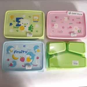 Kotak Makan Tepak Lucu Fruity Bear Sweet Biru Hijau Pink W285