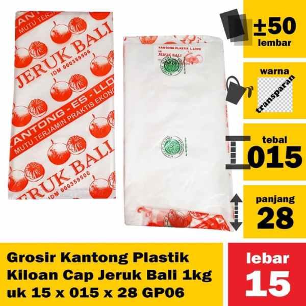 Grosir Kantong Plastik Kiloan Cap Jeruk Bali 1kg uk 15 x 015 x 28 GP06