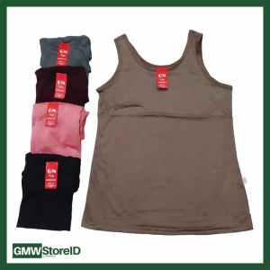W431 Singlet Wanita Kaos Dalam Cewek GN Size XL - Halus Polos Warna