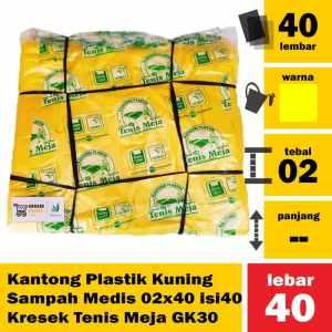 Kantong Plastik Kuning Sampah Medis 02x40 isi40 Kresek Tenis Meja GK30