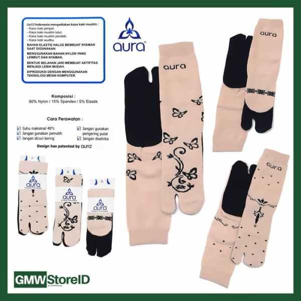 W564 Kaos Kaki Wanita Warna Motif Bagus Murah Ladies Socks Tipe E13