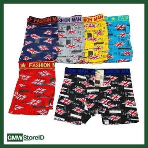 W422 Boxer Cowok Celana Pria Ban Karet Allsize Tipe I04 - Men Motif