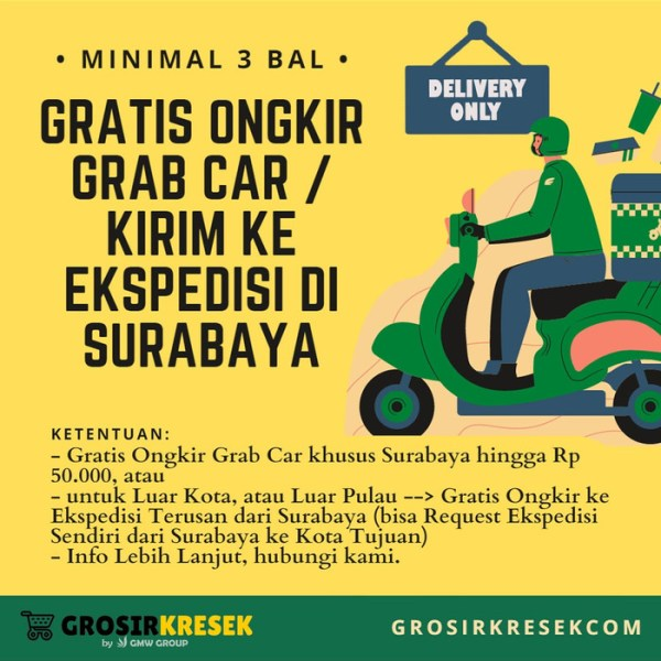 GK81 Grosir Kresek Kiloan Los HD 96 Sedang Warna Random 24x42x015 1 kg