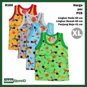 B160 Baju Buntung Bayi Laki-Laki XL Singlet Cowok Kutungan Warna SNI