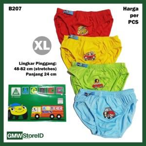 B207 CD Anak XL Warna Cowok Laki Sablon Car Celana Dalam Agree Kid SNI