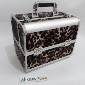 Beauty Case Kotak Make Up Besar Motip Macan Tutul 2321 W143