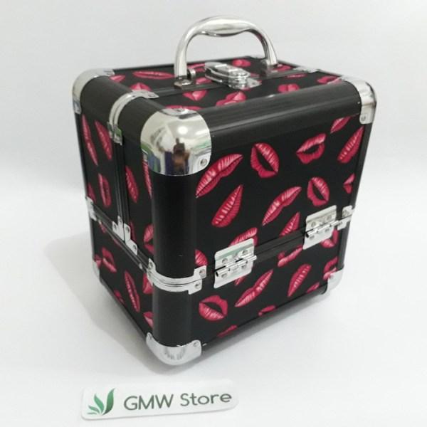 Beauty Case Besar Kotak Make Up Motip Bibir dan Harimau 416 W141