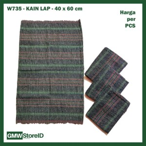 W735 Kain Lap 40 x 60 cm Warna Abu-Abu Pel Lantai Cloth Dapur Murah