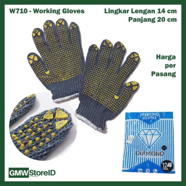 Sarung Tangan Kerja Diamond Antislip Working Safety Glove Murah W710