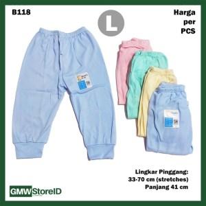 B118 Celana Panjang Bayi L Katun Warna Baby Clothes Lembut Nyaman SNI