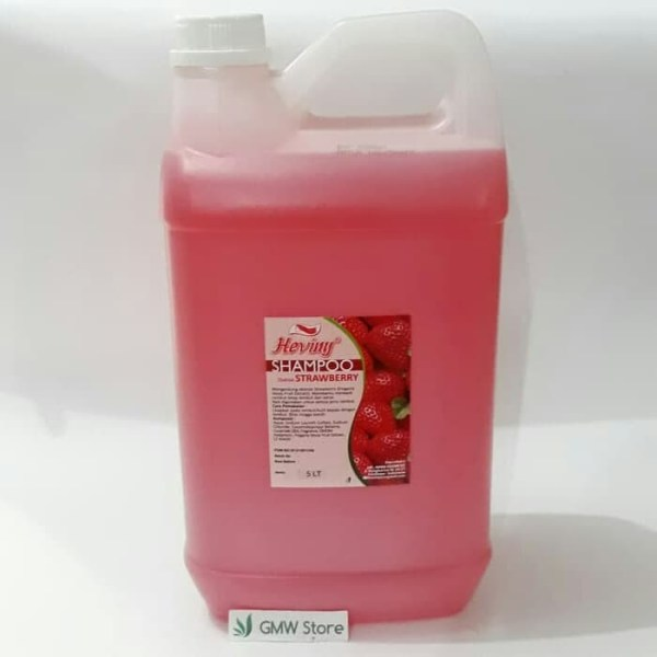 Heviny Shampoo Strawberry 5 Liter Shampo Salon Sehat Melembutkan W265