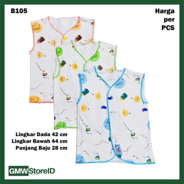 B105 Baju Buntung Bayi Kancing Kutungan Laki-Laki Boy Baby Clothes SNI