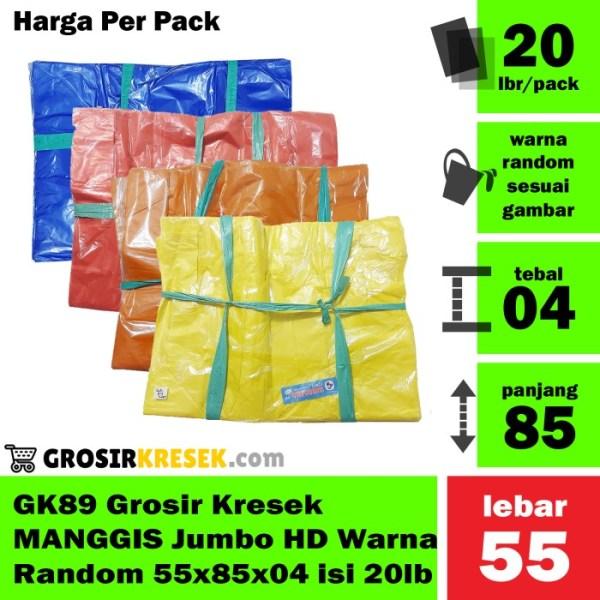 GK89 Grosir Kresek MANGGIS Jumbo HD Warna Random 55x85x04 isi 20 lbr