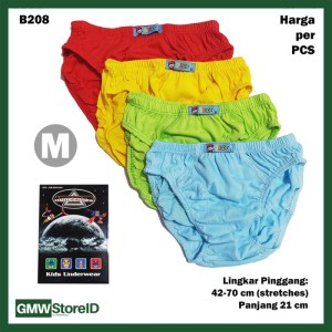 B208 CD Anak Cowok Laki M Warna Polos Celana Dalam Agree Kids SNI