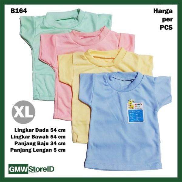 B164 Kaos Oblong Bayi Size XL Halus Baju Cowok Cewek Warna Unisex SNI