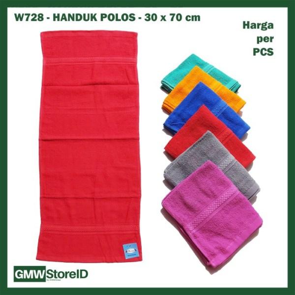 W728 Handuk Polos 30x70cm Kecil Panjang Warna Murah Bath Towel Cloth