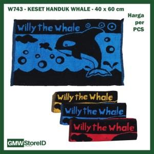 W743 Keset Handuk 40x60 cm Murah Doormat Willy the Whale Paus Warna