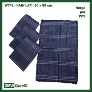 W741 Kain Lap 30 x 50 cm Warna Biru Tua Pel Lantai Cloth Dapur Murah