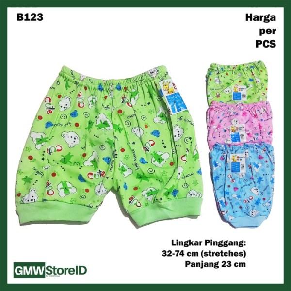 B123 Celana Pendek Bayi Motif Lucu Warna Laki-Laki Perempuan Baby SNI