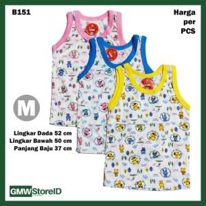 B151 Baju Buntung Bayi Singlet M Kutungan Motif Putih Warna Baby SNI