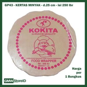 GP43 Grosir Kertas Minyak Bunga Bulat 24cm KOKITA 250lbr Food Wrapper