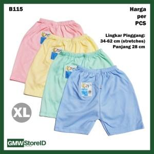 B115 Celana Pendek Bayi XL Baby Clothes Katun Warna Lembut Nyaman SNI