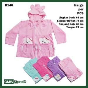 B146 Jaket Bayi Cewek Gambar Panda Lucu Warna Perempuan Baby Jacket