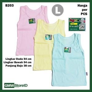 B203 Singlet Bayi Size L Warna Unisex Kaos Dalam Large Agree Baby SNI