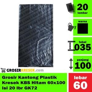 Grosir Kantong Plastik Kresek Sampah KBS Hitam 60x100 isi 20 lbr GK72