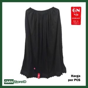 W769 Androk Rok Panjang Hitam Polos Wanita Size XL Perempuan Renda GN
