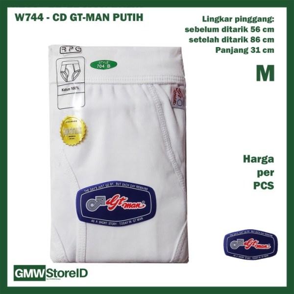 Celana Dalam GT Man Size M Warna Putih CD Pria Laki Laki Medium W744
