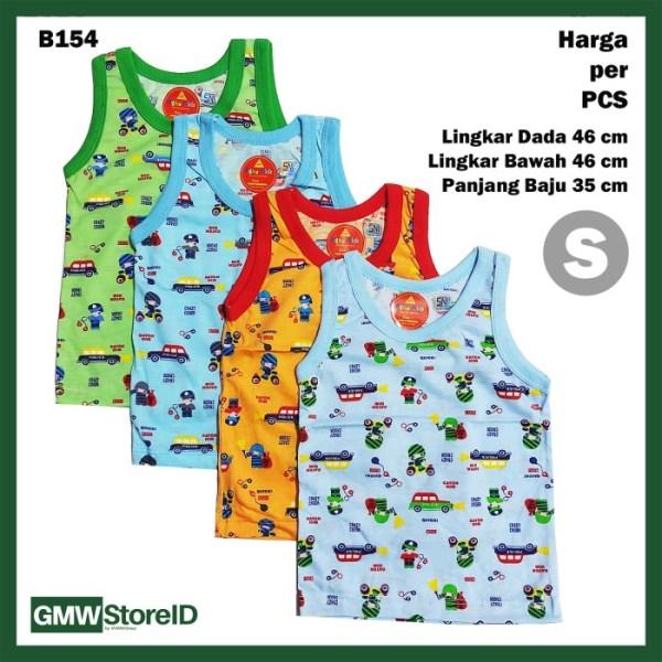 B154 Baju Buntung Bayi Singlet S Cowok Kutungan Warna Laki Boy SNI
