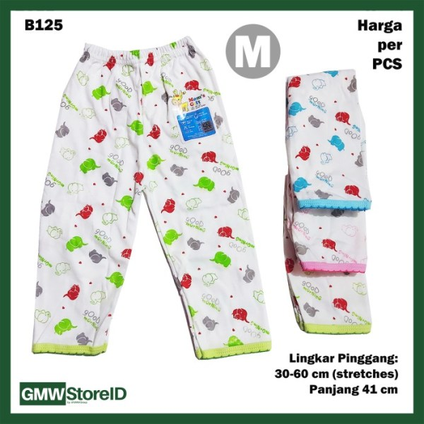 B125 Celana Panjang Bayi Size M Motif Laki-Laki Perempuan Unisex SNI