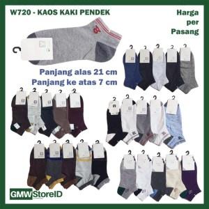 W720 Kaos Kaki Pria Dewasa Men Casual Socks Pendek Warna Keren A20